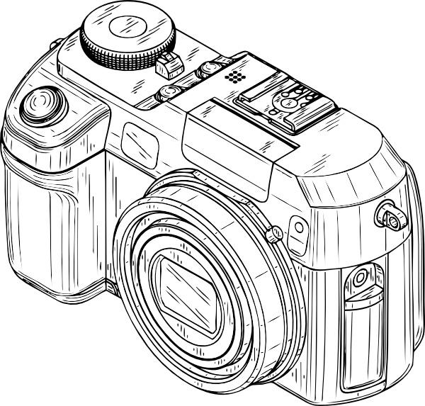 Camera clipart digital camera Svg Camera Open Digital office