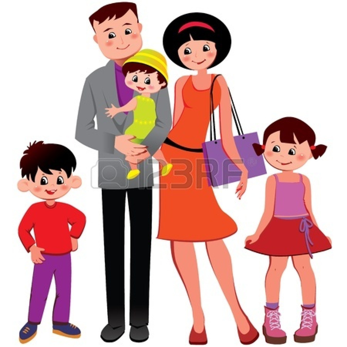 Asian clipart family 4 Clipart Family Family  and