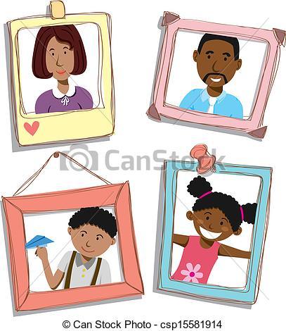 Photos clipart family photograph American family Search csp15581914 family
