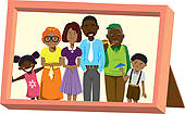 Photos clipart family photograph Art Royalty GoGraph Free african