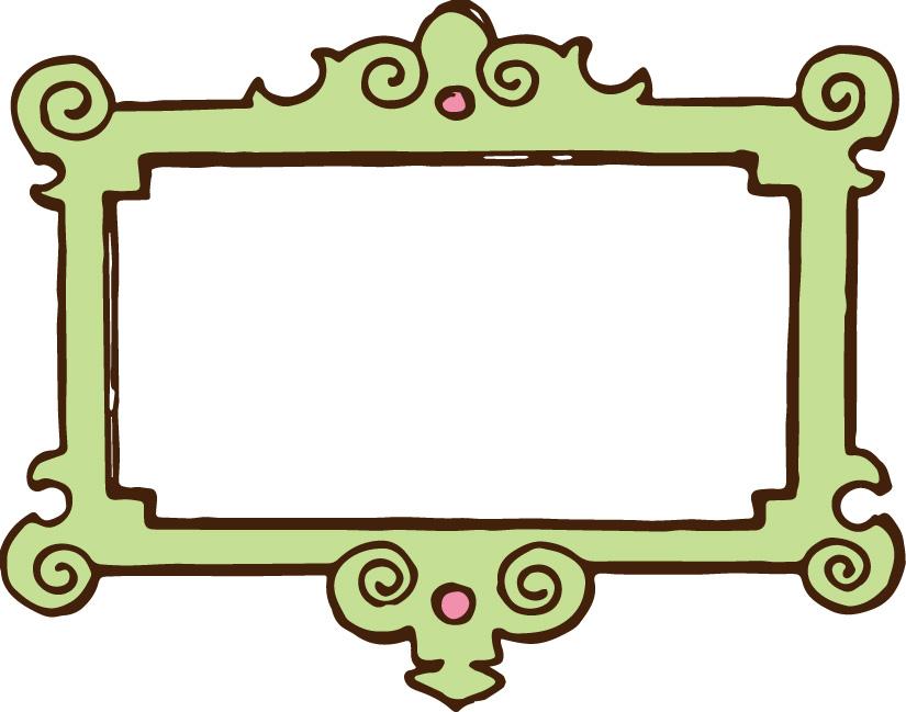 Panda clipart frame #5