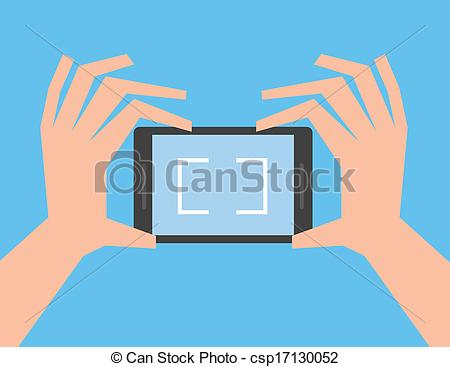 Phone clipart camera phone Phone of Vectors Holding