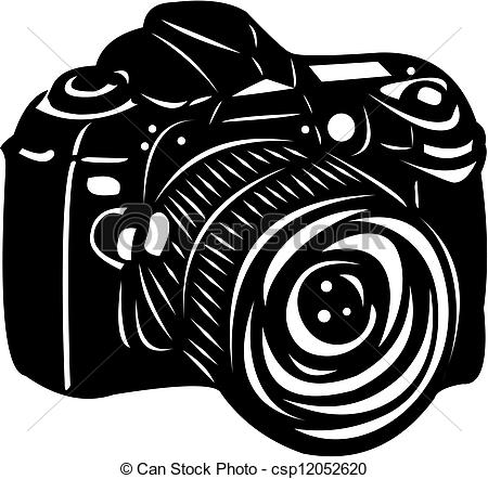 Dslr clipart black and white Black Illustration Vector camera digital