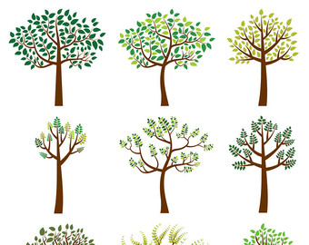 Branch clipart whimsical tree Tree Digital Tree Summer Leaf