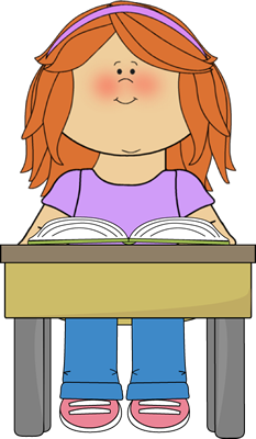 Desk clipart independent work Reading Book Reading Student Book