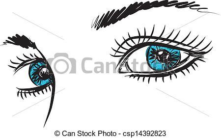Blue Eyes clipart woman eye Eyes blue woman Illustration woman