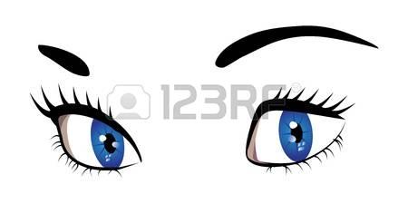 Blue Eyes clipart woman eye Illustration eyes Stock Free woman