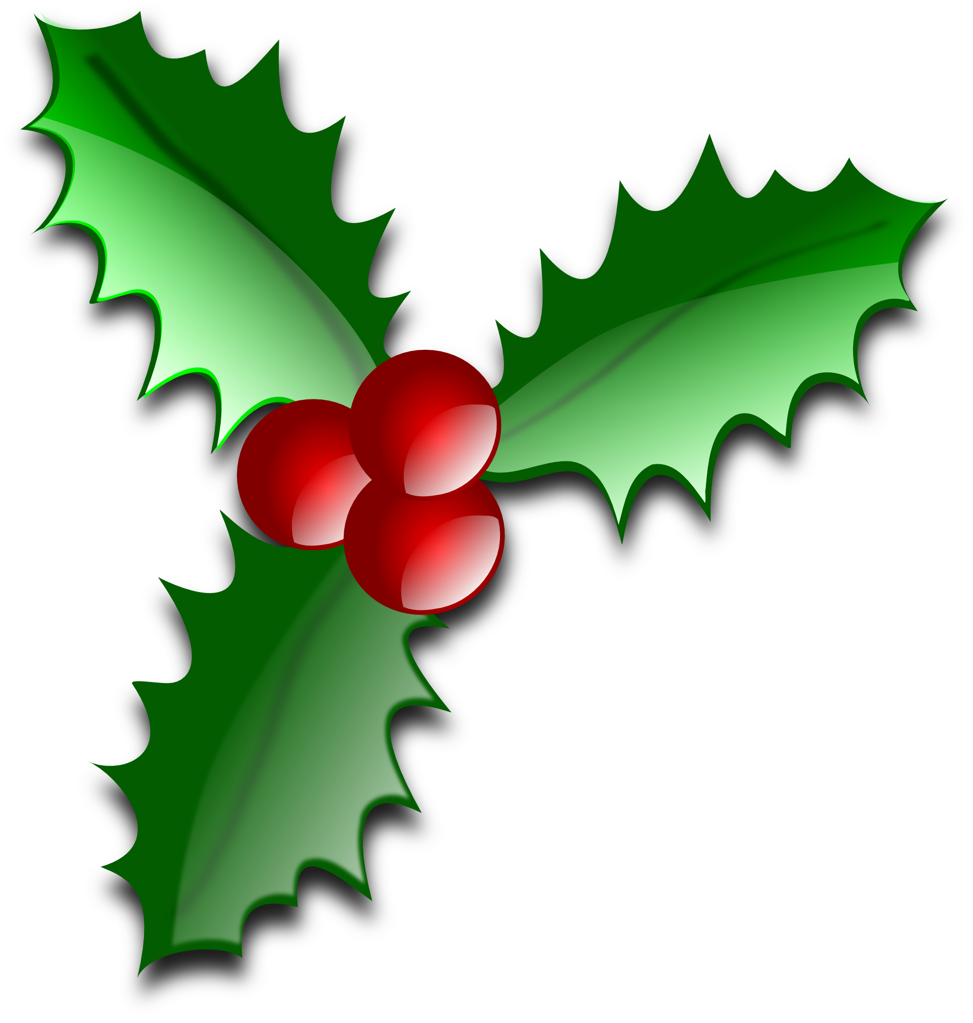 Leaves clipart xmas #3