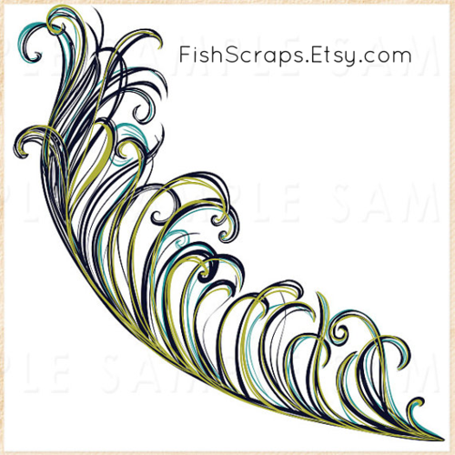 Peacock clipart art brush Clip Peacock Clip Art Feather