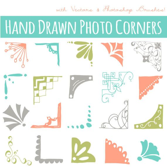 Photoshop clipart corner Commercial Overlay Hand ART: Photo