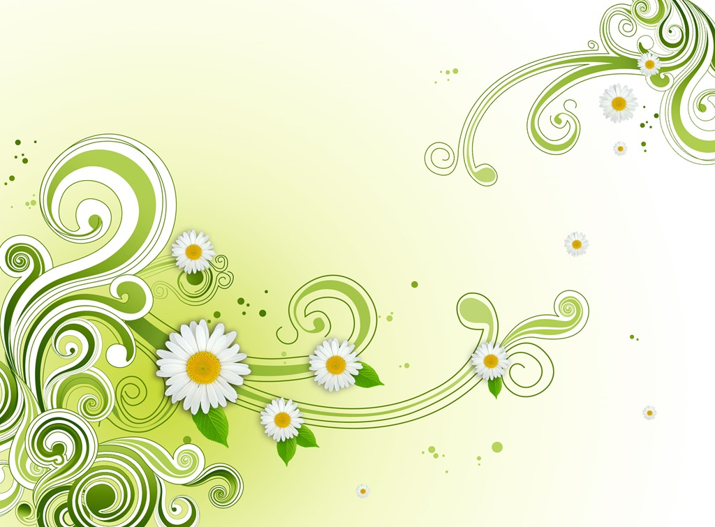Photoshop clipart design background PSD Floral Background Flower Green