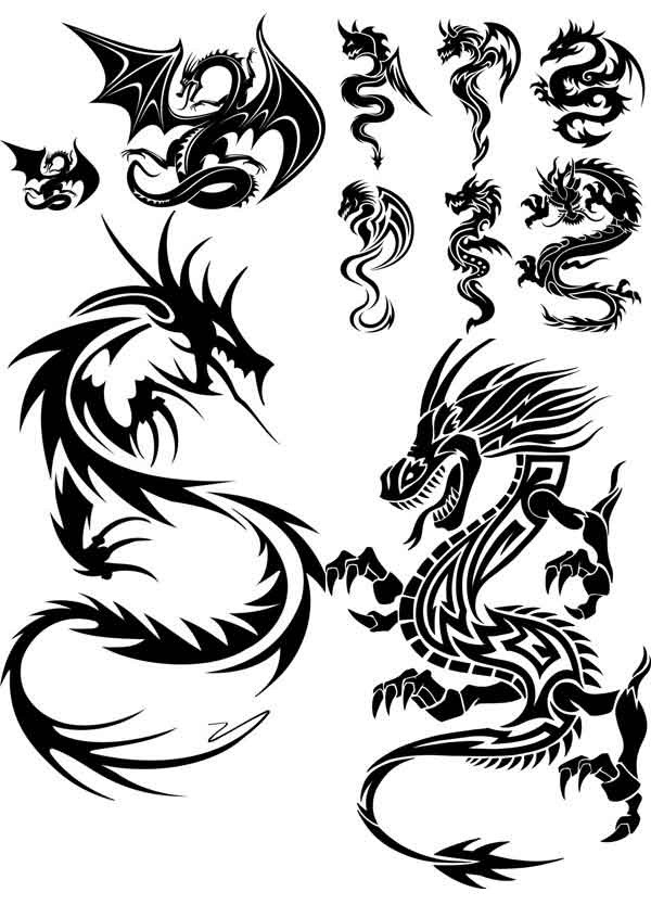 Photoshop clipart dragon Free shaped My pattern material