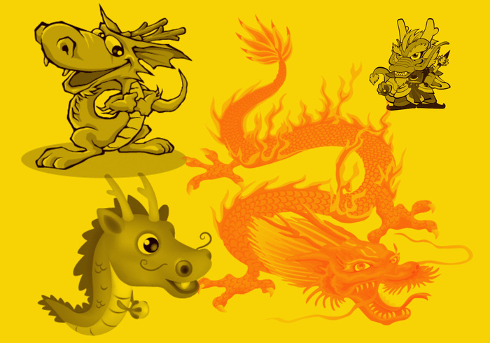 Photoshop clipart dragon Chinese Dragon Brushes at Photoshop