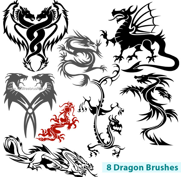 Photoshop clipart dragon Brushes Photoshop Free Brushes Photoshop