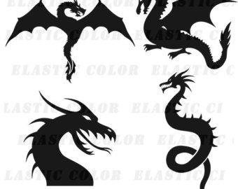 Photoshop clipart dragon Svg silhouette art download clipart