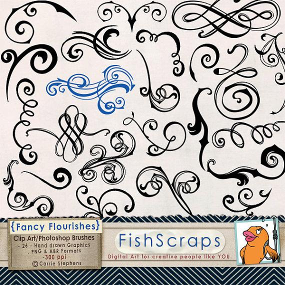 Drawn swirl line Swirl Clip Wedding Flourish Elegant