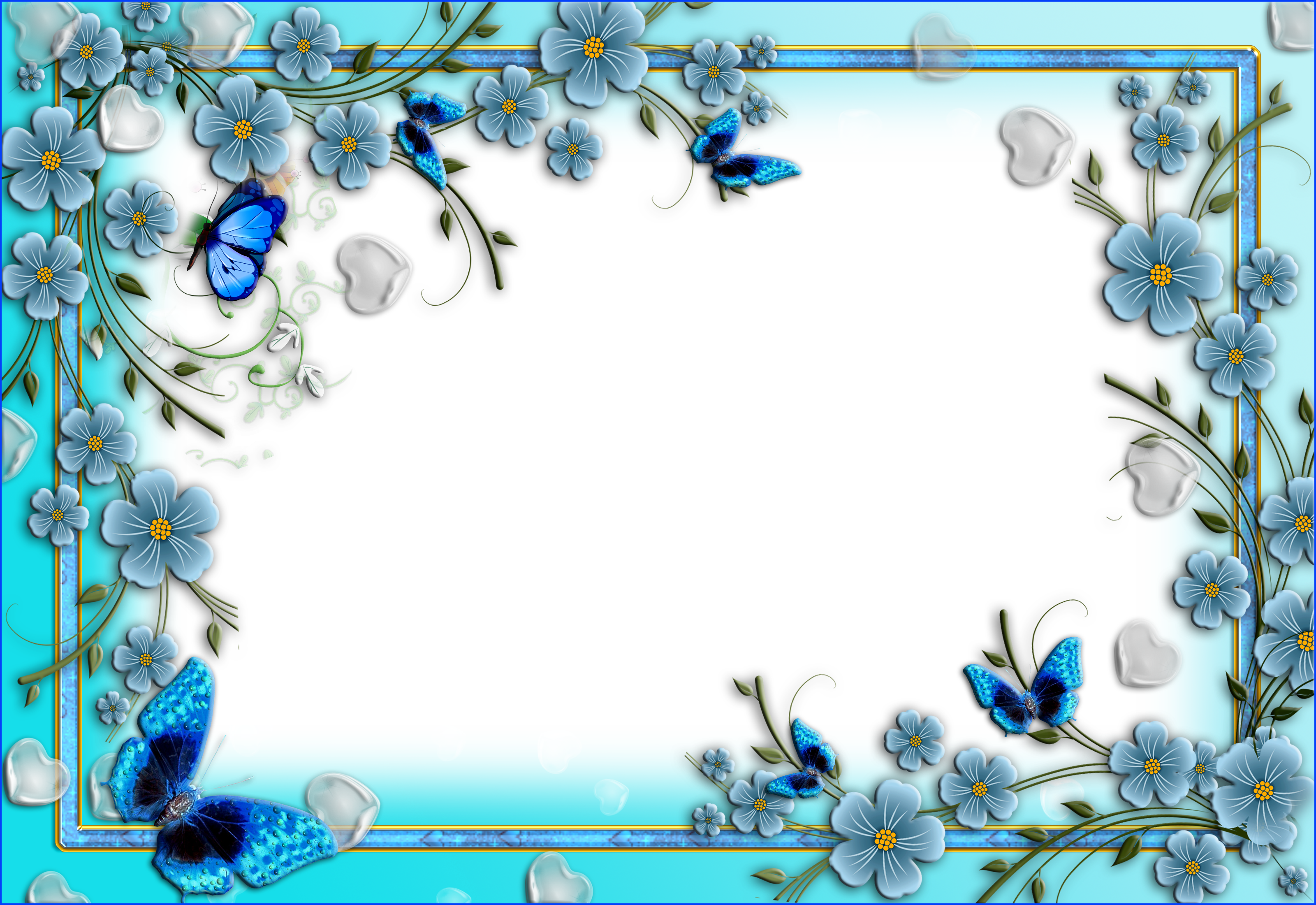 Blue Flower clipart love Hearts And Clip And Flowers