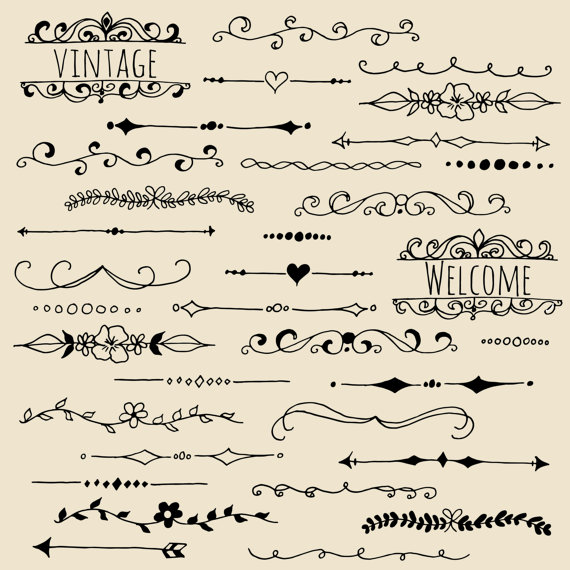 Photoshop clipart hand CLIP Ribbon Brushes //