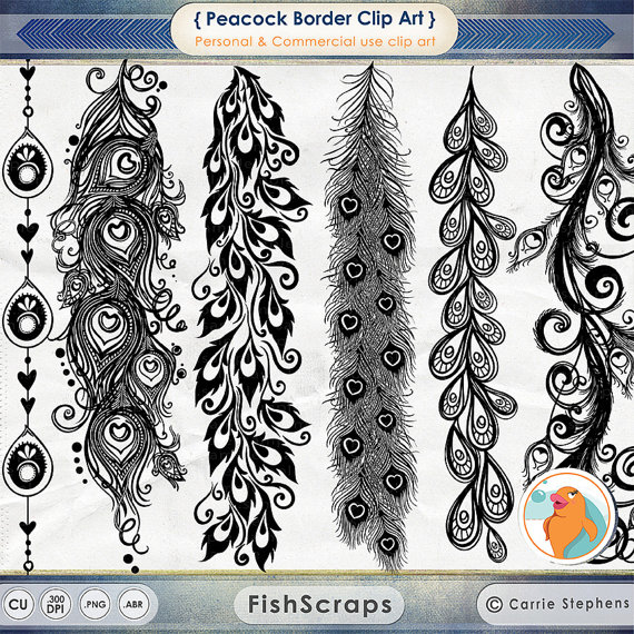Photoshop clipart peacock tail Urban Chic Peacock Peacock Border