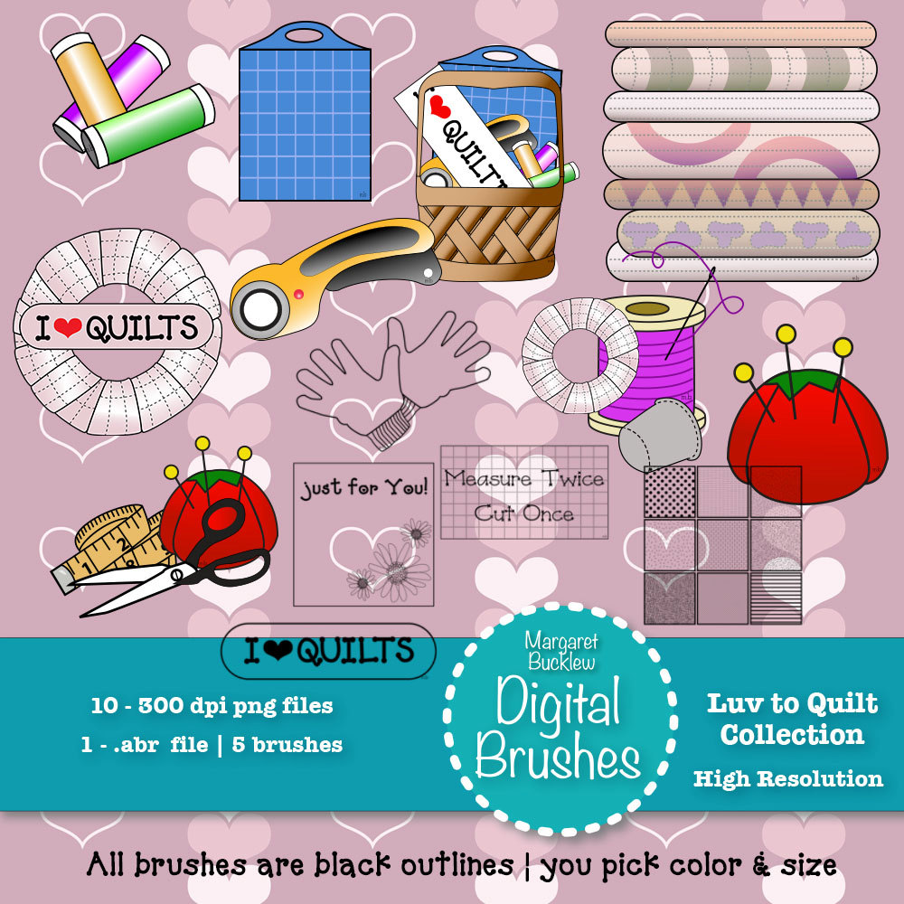 Photoshop clipart sewing PS a Sewing colored brushes