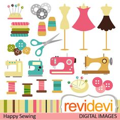Photoshop clipart sewing Revidevi Happy Commercial Sewing $5