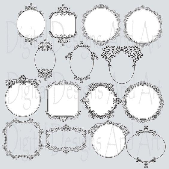 Photoshop clipart victorian pattern Border Wedding Design Digital border