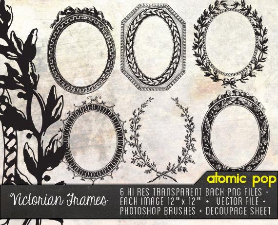 Photoshop clipart victorian pattern Art Frames Files Decoupage Victorian