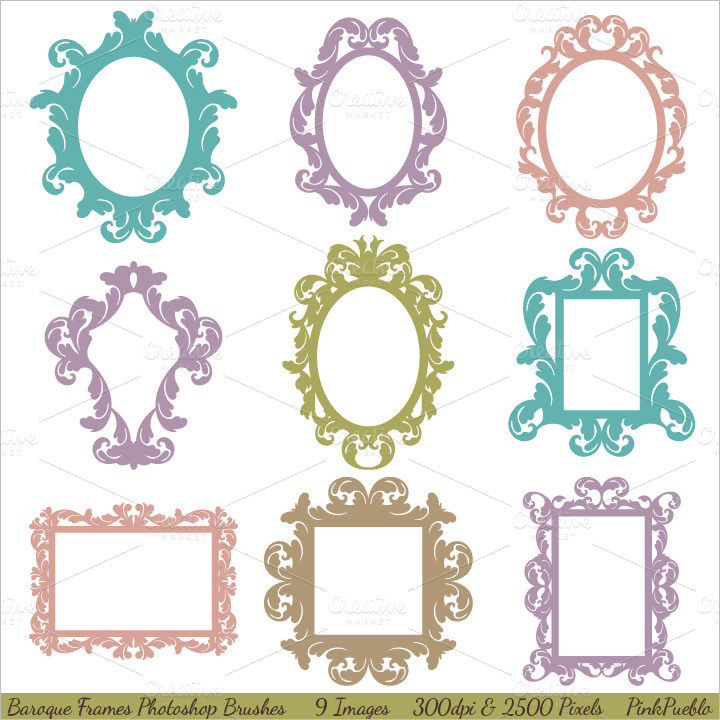 Photoshop clipart victorian pattern 35+ Free Brushes Brushes Baroque