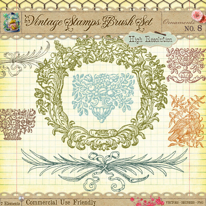 Photoshop clipart vintage paper 9 by Borders Free Frame
