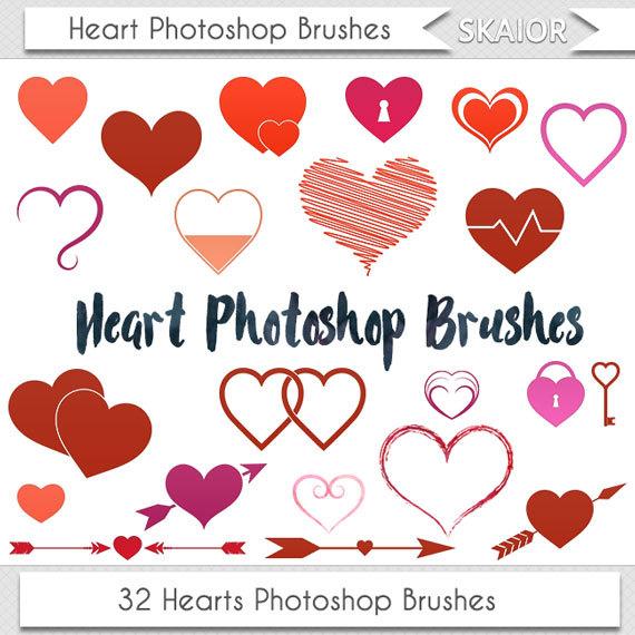 Photoshop clipart wedding heart Brushes Wedding Heart Brushes Valentine