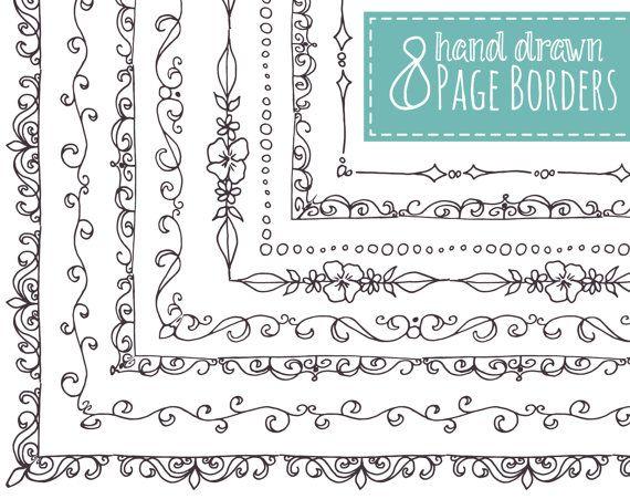 Drawn decoration Drawn borders // Borders ideas