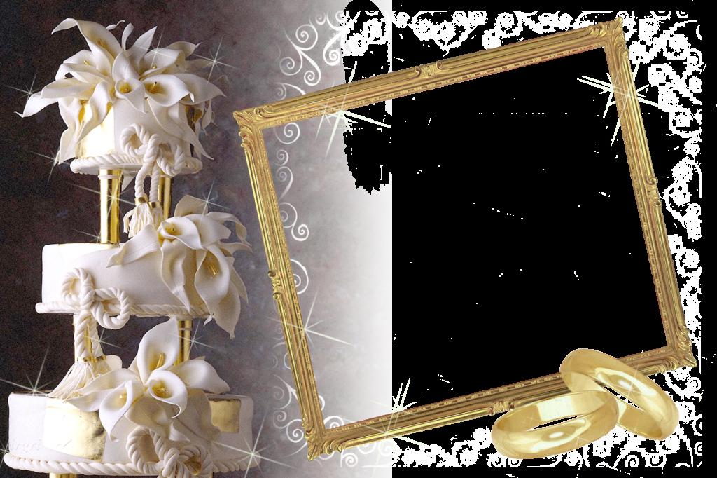 Photoshop clipart wedding photo frame White with  Wedding full
