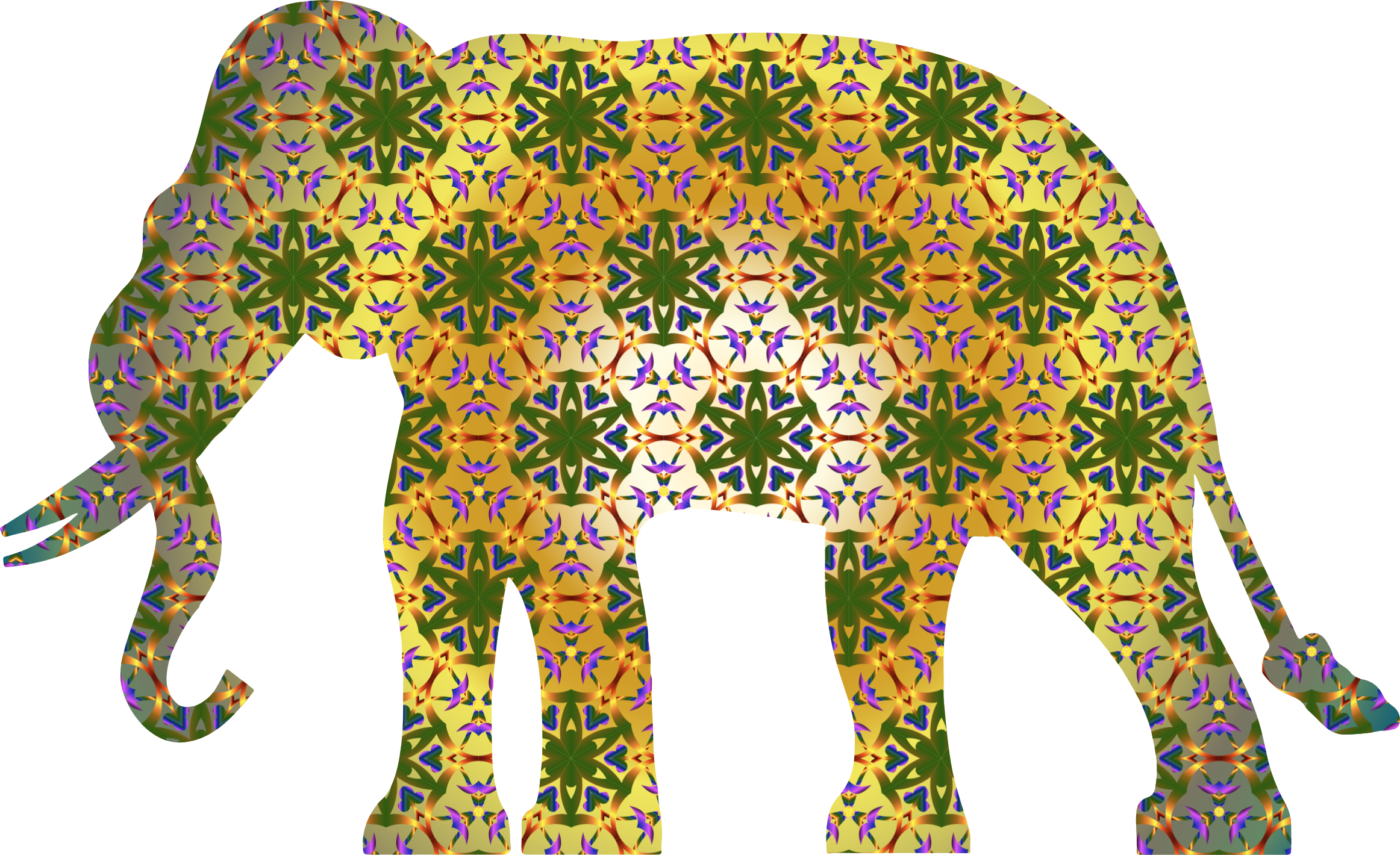 Asian Elephant clipart ornamental Clipart Elephant Psychedelic Psychedelic Pattern
