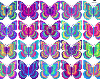 Moth clipart psychedelic #1