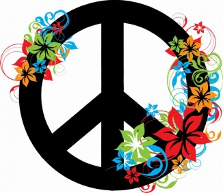 Physcedelic clipart love flower American ☮ ~ Peace Psychedelic
