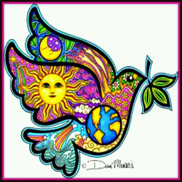 Physcedelic clipart peace bird Ideas Psychedelic on 25+ Dove