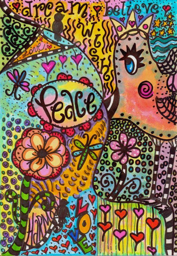 Physcedelic clipart love flower Best art Pinterest bird Peace