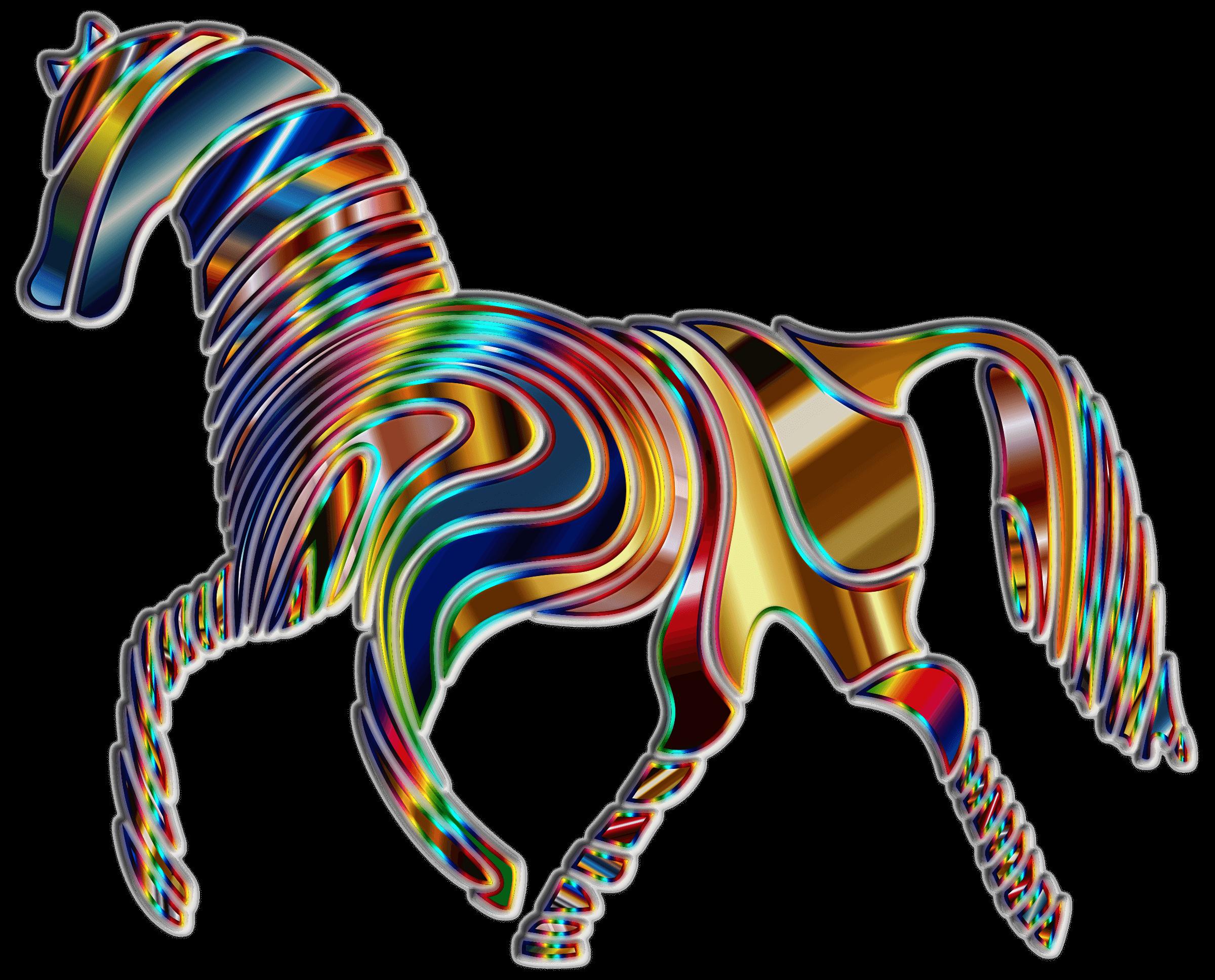 Physcedelic clipart transparent StickPNG Horse PNG transparent Psychedelic