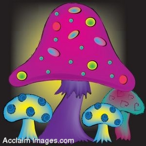 Triipy clipart psychadelic Art of Trippy Mushrooms Art