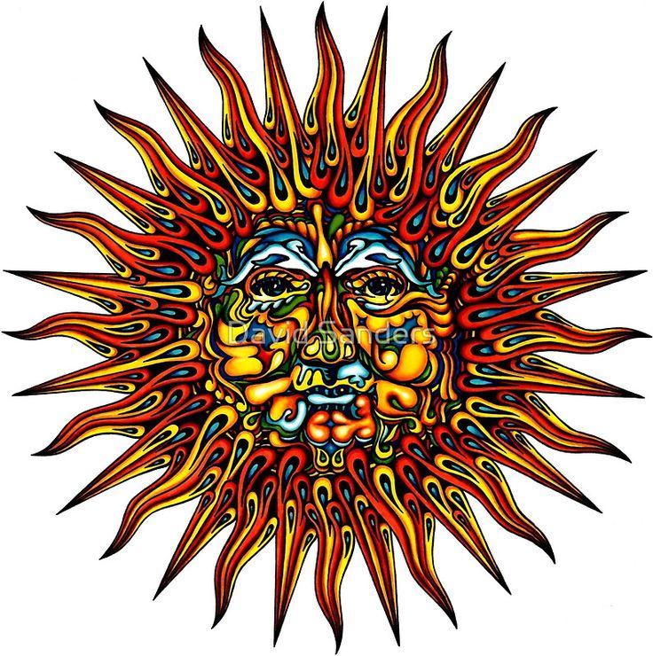 Triipy clipart psychedelic Sticker 23 sticker sun Pinterest
