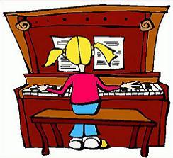Piano clipart Piano Clipart piano girl upright