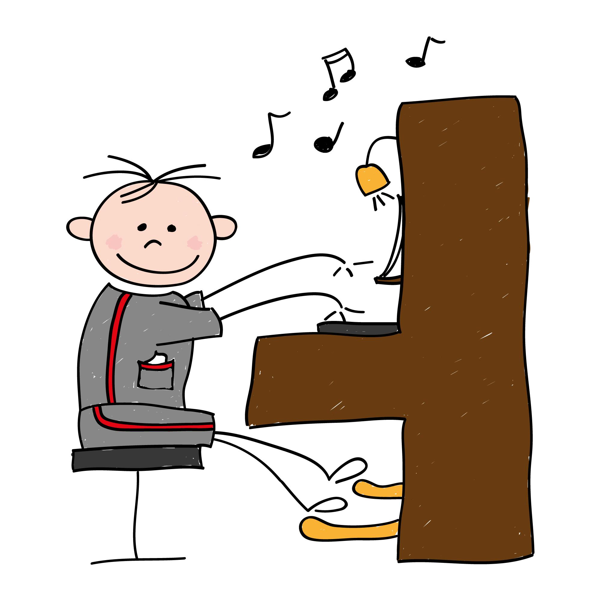 Piano clipart cartoon On Cartoon Art Cartoon Free