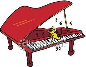 Piano clipart cartoon Free Cartoon Playing Free Clipart