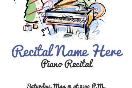 Piano clipart closed Recital and on Piano Clipart