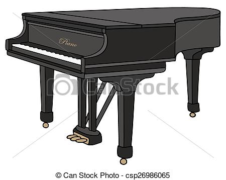 Piano clipart closed Art of piano piano Vector