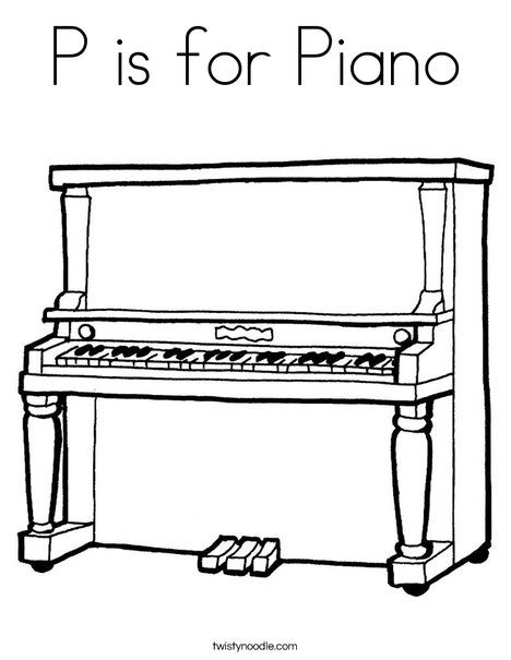 Piano clipart coloring page Pianos Piano for Page Pinterest