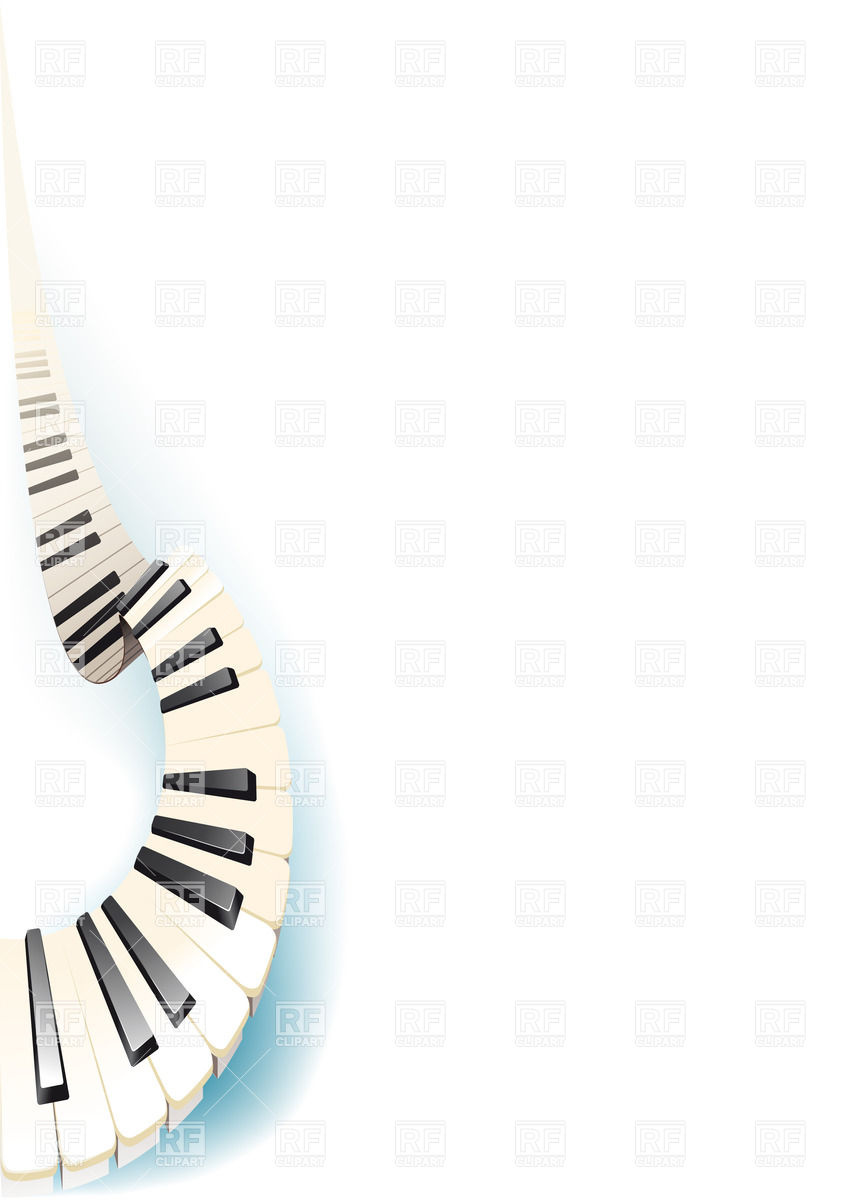 Piano clipart curved Vector Curving Gracefully keys piano
