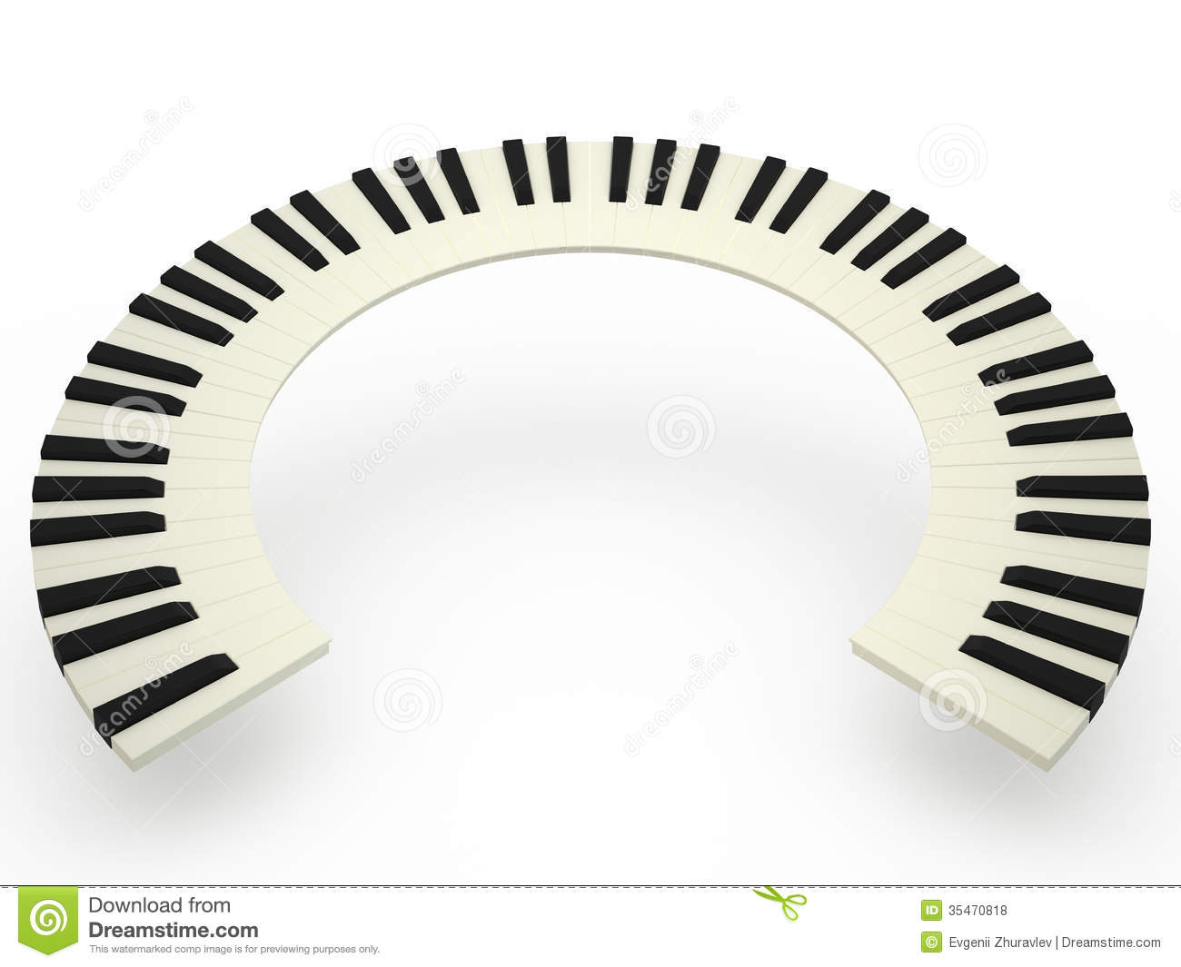 Piano clipart curved Illustrations Curving Curved Stock piano