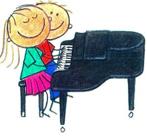 Piano clipart duet Primary Minor Music in piano