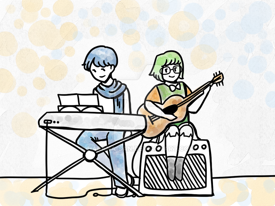 Piano clipart duet DeviantArt Guitar by Harana and